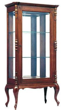 Antique Anglo-Indian Teakwood Display Cabinet