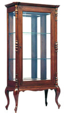 Antique Anglo-Indian Teakwood Display Cabinet