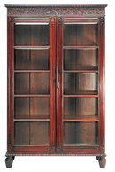 Antique Portuguese Teakwood Bookcase