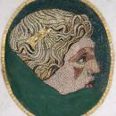Framed Antique Roman Stone Mosaic Portrait