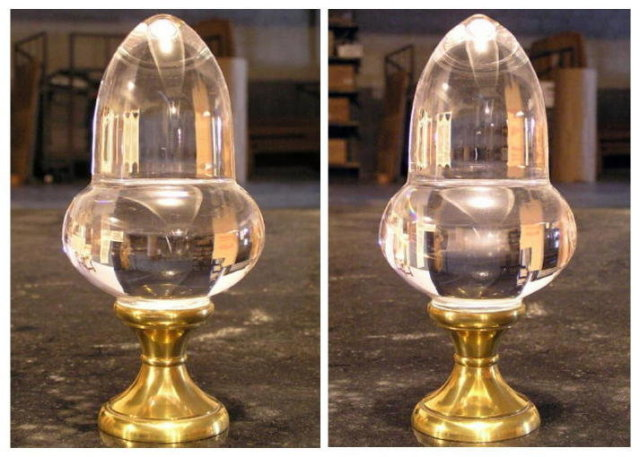 (9) Antique French Glass & Brass Orb Finials