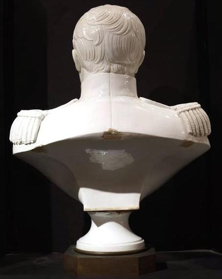 Antique Napoleon Era White Glazed Porcelain Bust from Sevres