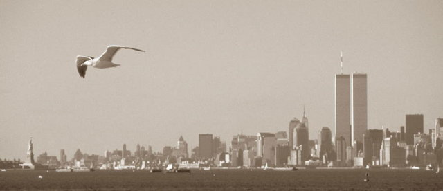 2001 Seagull & World Trade Center Limted Edition Signed Print by Piero Ribelli