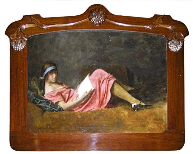 Hungarian Art Nouveau Female Portrait by Armin Glatter