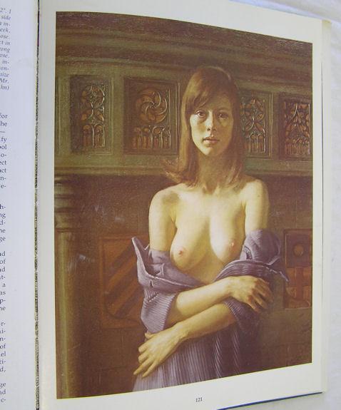 Sophia Semi-Nude Pastel Portrait by Daniel Greene c1970
