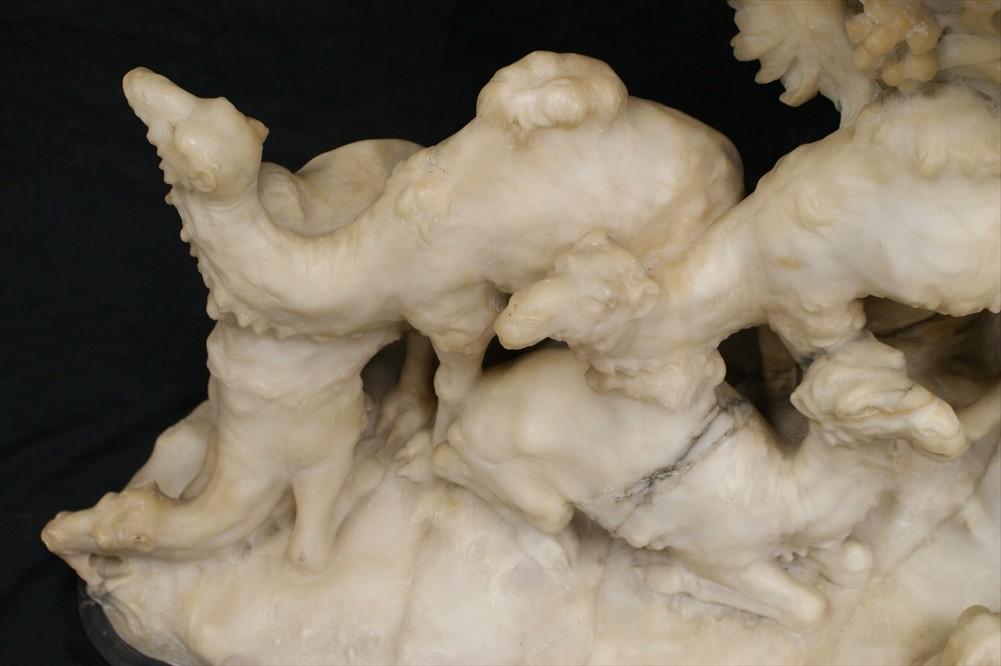 Aristide Petrilli Orientalist Figurative Alabaster Lamp Sculpture
