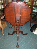 Vintage Mahogany Tilt-Top Tripod Table