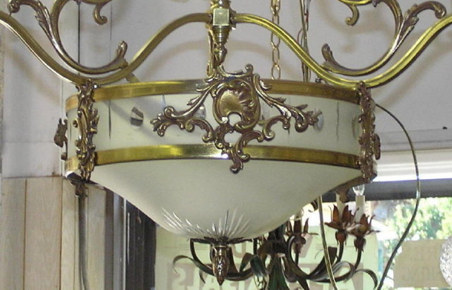 Antique French Louis XV Bronze Chandelier