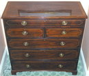 Antique American Chippendale Federal Mahogany Chest