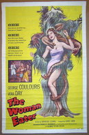THE WOMAN EATER 1 Sheet Poster Board