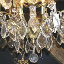 French 8-Light Crystal Electrified Chandelier