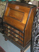 Vintage Goa Anglo-Indian Fall-Front Bureau Desk