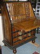 Vintage Goa Anglo-Indian Fall-Front Bureau Desk