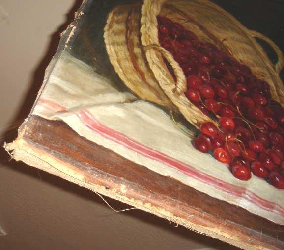 Cherries Cherry Basket Still Life Oil Painting