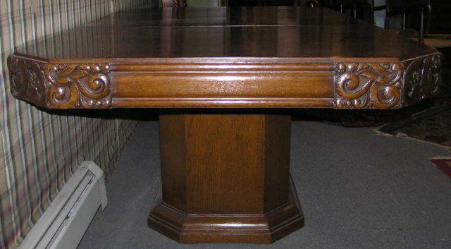 French Art Deco Walnut Dining Table
