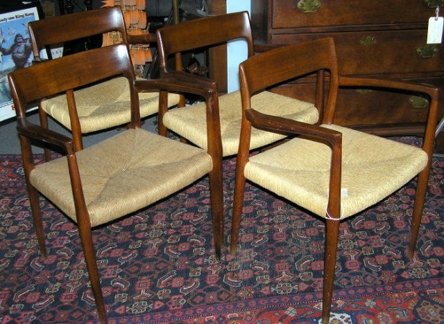 Set of 4 Vintage Niels O. MOLLER Armchairs