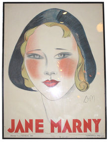 1930 Jane Marny 46x62 Poster by Jean Don