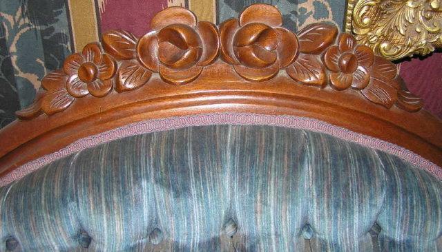 Victorian Blue Velvet Upholstered Sofa