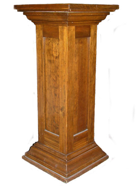 Antique Pine Art Pedestal or Plant Stand