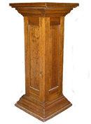 Antique Pine Art Pedestal or Plant Stand