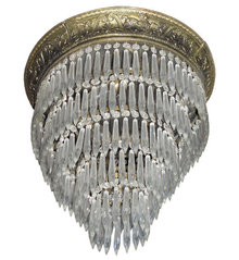 French Empire Cascading Crystal Chandelier
