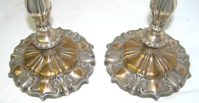 Pair 1843 English Sheffield Plate Candlesticks