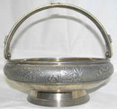 1886 Meriden Silverplated Handled Basket
