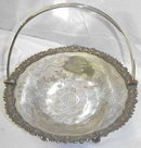 Euro Sheffield Silver Chased Handled Basket