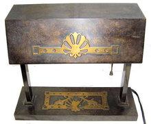 Art Deco Silvercrest Bronze Desk Lamp