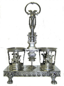 Napoleonic French Sterling Cruet Stand