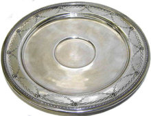 Sterling Silver Neoclassical Cabinet Plate