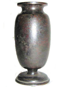 Antique Japanese Bronze Footed Vase