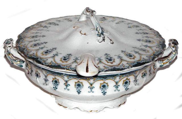 Antique English Leland J&C Meakin Hanley Porcelain Tureen