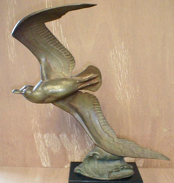 Andre Vincent Becquerel Seagull Bronze Sculpture
