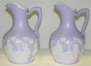 Pair Samuel Alcock Staffordshire Pitchers