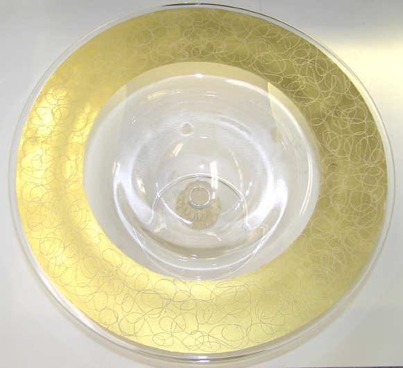 Large Golden CENEDESE Compote Centerpiece