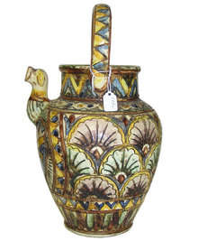 CELLINI Earthenware Majolica Pitcher / Jug