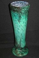 Antique Daum Mottled Green Glass Vase