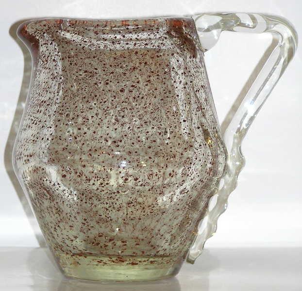 ANDRE THURET French Studio Art Glass Jug