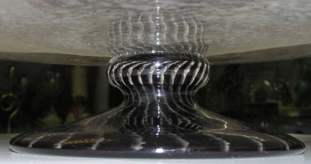 Violet French Schneider Glass Centerpiece