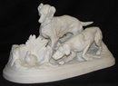 Bisque Parian Hunting Dog Figurine After MENE