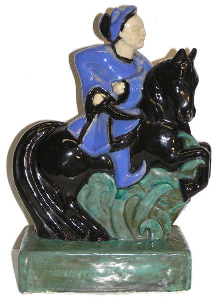 CAZAUX Ceramic Figurine by Sibylle May