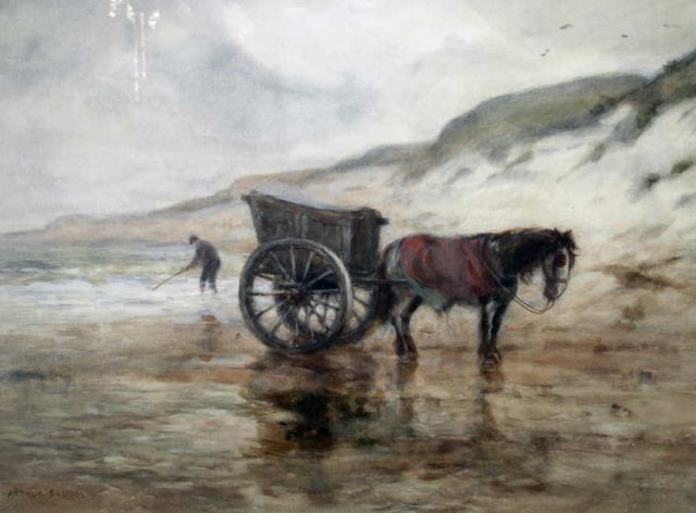 Impressionist Dutch Watercolor by Arthur Feudel