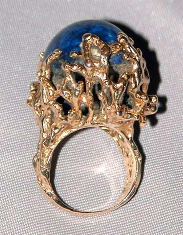 Vintage Lapis Lazuli 14K Gold Ring