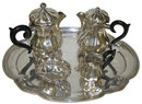 Antique German / Austrian 5-Pc Silver Tea Set