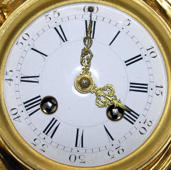 French Napoleon III Gilt Bronze Mantle Clock
