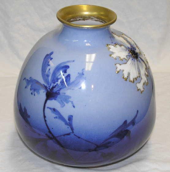 Ernst Wahliss Bohemian Porcelain Vase