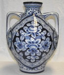 Antique HEISTERKAMP Delft 2-Handled Vase