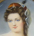 DUVAL Female Miniature Portrait Painting