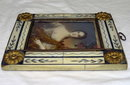 Miniature Framed Female Portrait Painting